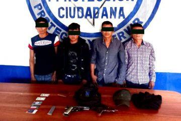 Detenidos por robo com violencia en tramo Palenque-Ocosingo