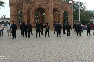 Continúa operativo para evitar actos masivos en Chiapa de Corzo