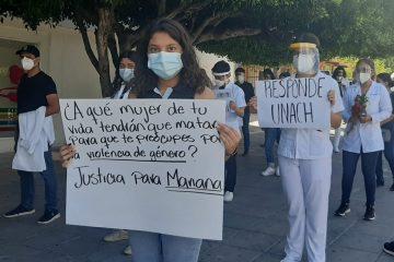Protestan por muerte de estudiante de la Unach