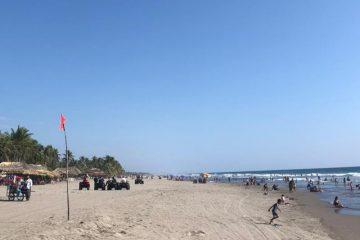 A pesar de la pandemia, playas de Chiapas lucieron llenas, según reporte de PC