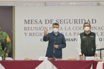Desde Comitán, realizan reunión de la Mesa de Coordinación Estatal y Regional de Seguridad