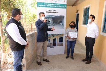 Benefician a 660 familias de Comitán con el Programa Emergente de Vivienda 2021