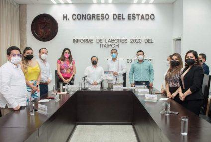 Presenta Instituto de Transparencia su Informe de Actividades ante el Congreso del Estado