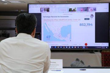 Reconoce Gobierno de Chiapas apoyo de la Federación en la vacunación anti COVID-19