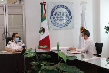 Se reúne comisaria general con jefe zona sur del Comité Internacional de la Cruz Roja
