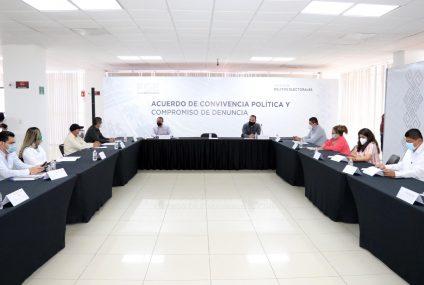 Firman FGE y partidos políticos Acuerdo de Convivencia Política y Compromiso de Denuncia