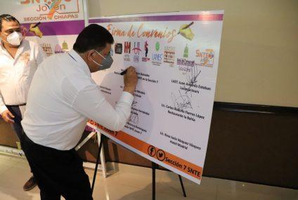 Sección 7 se suma a la reactivación económica de Chiapas
