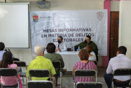 Capacita Fiscalía Electoral a integrantes de Consejos del IEPC y representantes de partidos en Ocozocoautla