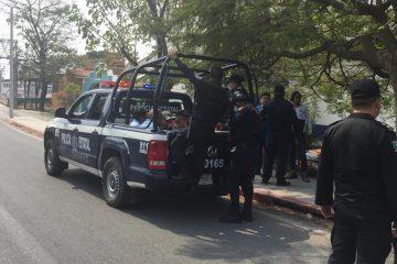 Aseguran policías a 40 personas por hechos violentos en Tuxtla Gutiérrez