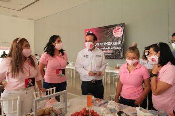 Todo mi apoyo a las mujeres empresarias de Chiapas: Emilio Salazar