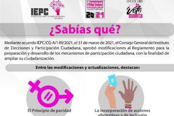 Actualiza IEPC Reglamento de Participación Ciudadana