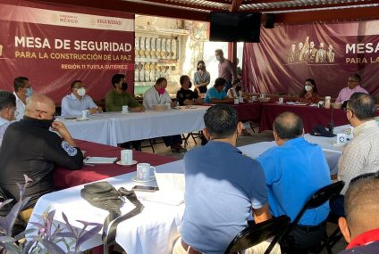 Participa FGE en reunión de la Mesa de Seguridad para la Construcción de la Paz