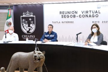 Chiapas participa en reunión para analizar regreso a clases y avance en vacunación anti COVID-19