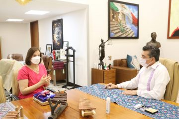 Rutilio Escandón se reúne con la embajadora de Serbia en México