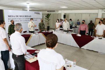 Acompaña Zepeda Soto al gobernador a Mesa de Seguridad en Tapachula