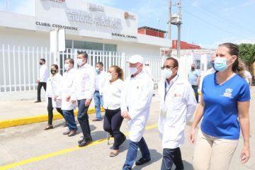 En Suchiate, inaugura Rutilio Escandón la reconversión del Centro de Salud con Hospitalización