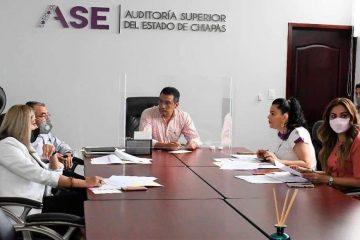 Legislativo y ASE analizan avances en la entrega de la Cuenta Pública 2020 de los ayuntamientos