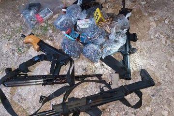 Decomisan armas largas y drogas en Tuxtla Gutiérrez