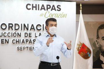 Recibe Chiapas 200 mil 70 vacunas Pfizer para proteger a la población: Rutilio Escandón