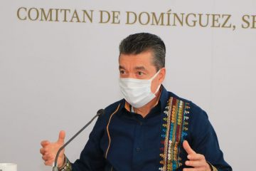 Desde Comitán de Domínguez, Rutilio Escandón pide tomar precauciones ante tormenta tropical no. 31