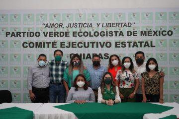 Grupo legislativo de PVEM en Chiapas Designa a coordinador de bancada