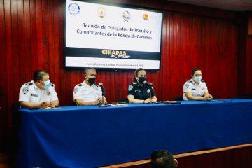 Encabeza Zepeda Soto Reunión de Delegados de Tránsito y Comandantes de la Policía de Turismo y Caminos
