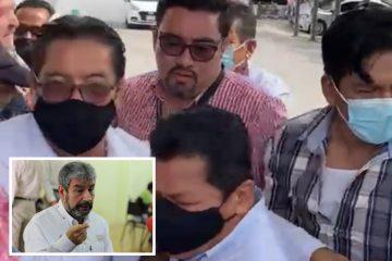 """""""Te vas a morir"""", la frase que enojó al secretario de Transporte en Chiapas; agredió a manifestantes"""