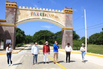 Inaugura Rutilio Escandón construcción del acceso principal a Bahía de Paredón, en Tonalá